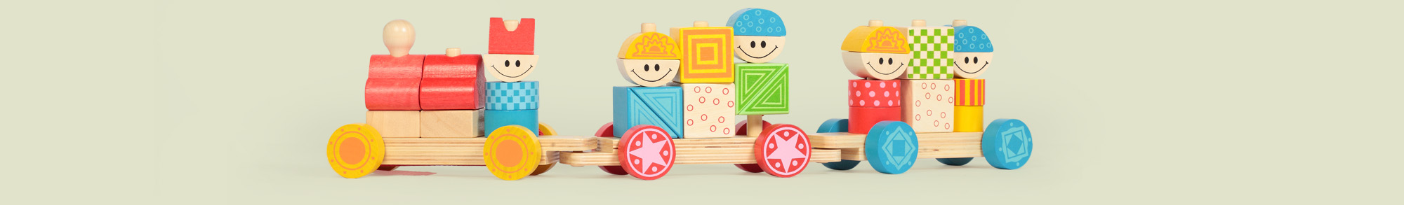Wooden train for children