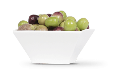 Small bowl of olives
