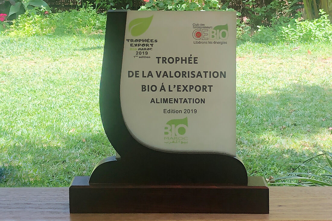 """Les trophées """"Export Bio Maroc 2019″"""