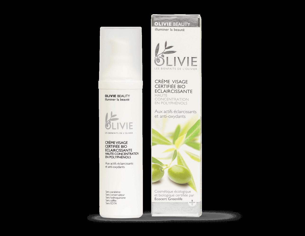 OLIVIE BEAUTY est la crème visage ultime certifiée BIO à haute concentration en polyphénols.